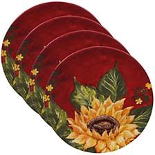 Sunset Sunflower 4-Pc. Salad Plate