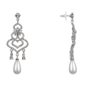 Nina Accessories PEARL CHANDELIER EARRINGS