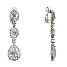 Nina Clear Stone Clip-on Earringss