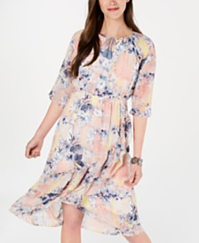 Style & Co Ruffled Faux-Wrap Dress, Created for Macy's