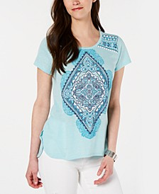 Graphic-Print High-Low T-Shirt, Created for Macy's