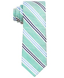 Lauren Ralph Lauren Big Boys Green Stripe Silk Tie