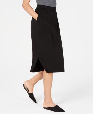 Eileen Fisher Skirts TENCEL SLIT-HEM MIDI SKIRT