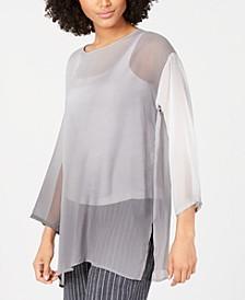 Silk Bracelet-Sleeve Tunic, Regular & Petite