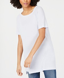 Eileen Fisher Bateau-Neck Short-Sleeve Tencel ™ Tunic