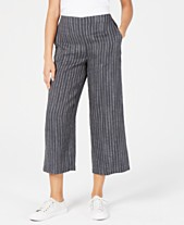 bf36ddb3e77a Eileen Fisher Linen Wide-Leg Cropped Pants