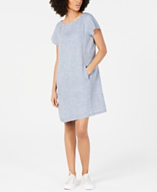 Eileen Fisher Organic Linen T-Shirt Dress