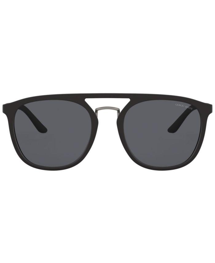 Giorgio Armani Polarized Sunglasses, AR8118 53 & Reviews - Sunglasses by Sunglass Hut - Men - Macy's