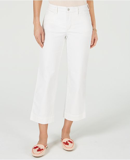 Charter Club High-Rise Wide-Leg Cropped Jeans, Created for Macy's