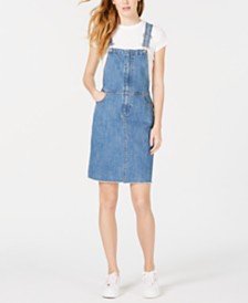 M1858 Clover Denim Overalls Dress