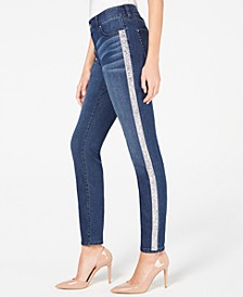 INC Embellished-Stripe Skinny Jeans, Created for Macy's