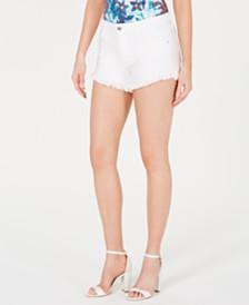GUESS Riley Frayed Denim Shorts