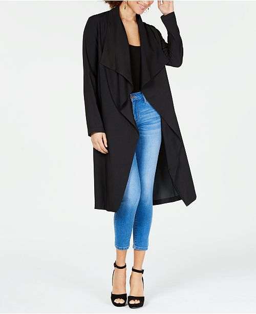 XOXO Waterfall-Front Duster Jacket