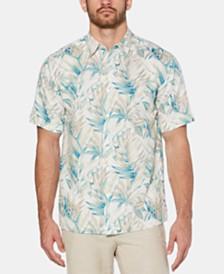 Cubavera Men's Tropical Leaf Print Shirt