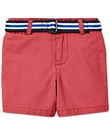 Baby Boys Belted Stretch Chino Shorts