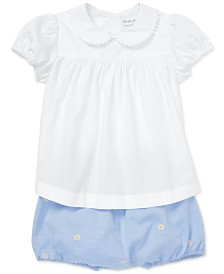 Polo Ralph Lauren Baby Girls Cotton Shirt & Bloomer Set