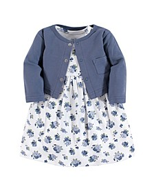 Baby Vision Toddler Girl Dress and Cardigan, 2-Piece Set