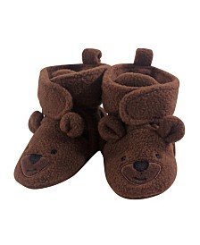 Hudson Baby Unisex Baby Cozy Fleece Booties with Non Skid Bottom, 1-Pack, 0-24 Months