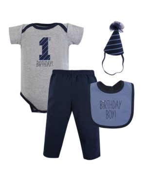 Baby Vision 12 Months Unisex Hudson Baby Baby First Birthday Outfit, 4 Piece
