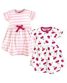 Baby Girl Organic Cotton Dress, Short Sleeve 2-Pack