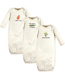 Unisex Baby Gown 3Pack 0-6 Months