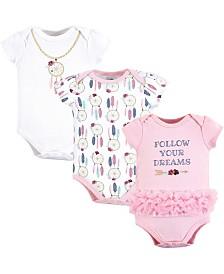 Little Treasure Unisex Baby Cotton Bodysuits, Short-Sleeve 3-Pack, 0-24 Months