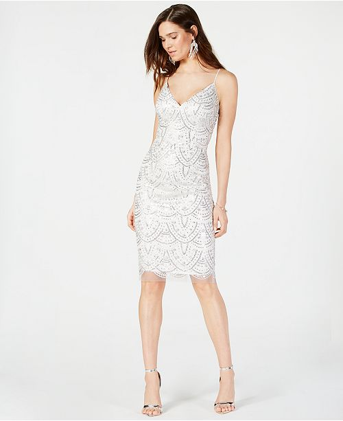 3b0ad131 Vince Camuto Sequined Embroidered Sheath Dress & Reviews - Dresses ...