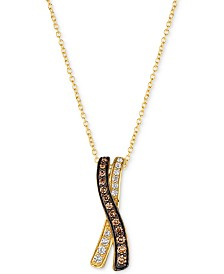 "Le Vian Chocolatier® Diamond 18"" Pendant Necklace (1/4 ct. t.w.) in 14k Gold"
