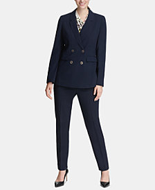 DKNY Double-Breasted Blazer & Skinny Pants, Created for Macy's