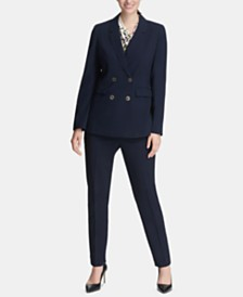 DKNY Double-Breasted Blazer & Skinny Pants