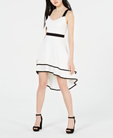 City Studios Juniors' Colorblocked High-Low Dress