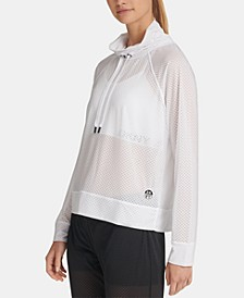 Sport Mesh Funnel-Neck Top