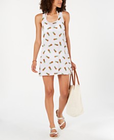 Miken Juniors' Pineapple-Print Cover-Up, Created for Macy's