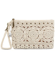 The Sak Silverwood Crochet Wristlet