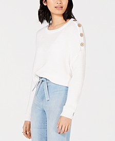 House of Polly Oversized Button-Detail Sweater