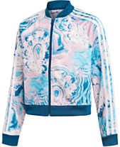 68004b9be7c adidas Originals Big Girls Marble Cropped Jacket
