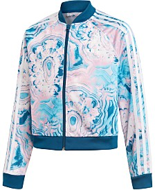 adidas Originals Big Girls Marble Cropped Jacket