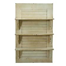 31.75-In. Vintage Window Shutter Shelving Wall Decor