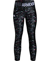 3dec3bca8015de Under Armour Big Girls Armour HeatGuard Printed Cropped Leggings