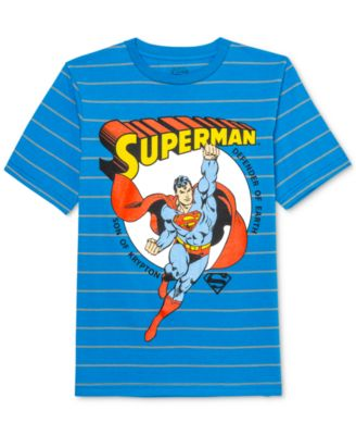 Big Boys Superman Son Of Krypton Stripe T-Shirt