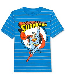 DC Comics Big Boys Superman Son Of Krypton Stripe T-Shirt