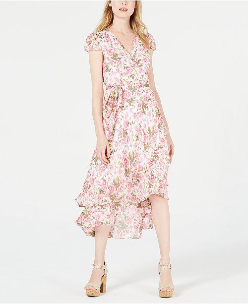 Betsey Johnson Floral Midi Wrap Dress