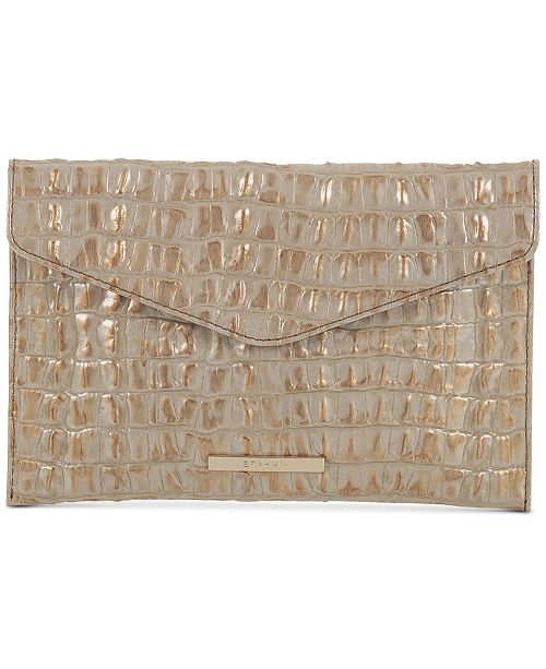 Brahmin Envelope La Scala Embossed Leather Clutch
