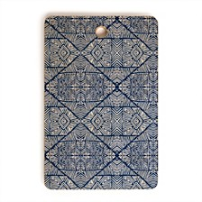 Camarasa Indigo of Geometric Shapes of Watercolor Rectangle Cutting Board