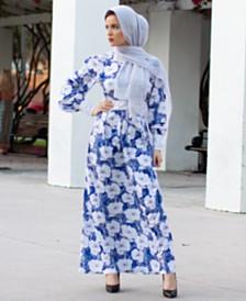 Verona Collection Carina Printed Maxi Dress