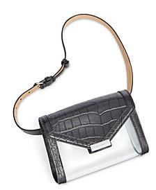 Leather & Vinyl Belt Bag