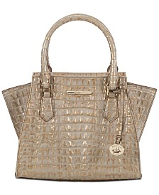 Brahmin La Scala Mini Priscilla Embossed Leather Satchel