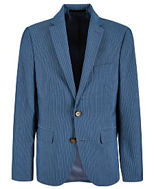 Lauren Ralph Lauren Big Boys Stretch Light Blue Stripe Suit Jacket