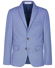 Big Boys Stretch Blue Suit Jacket