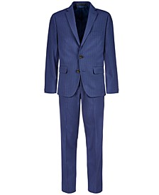 Big Boys Stretch Navy Stripe Suit Separates